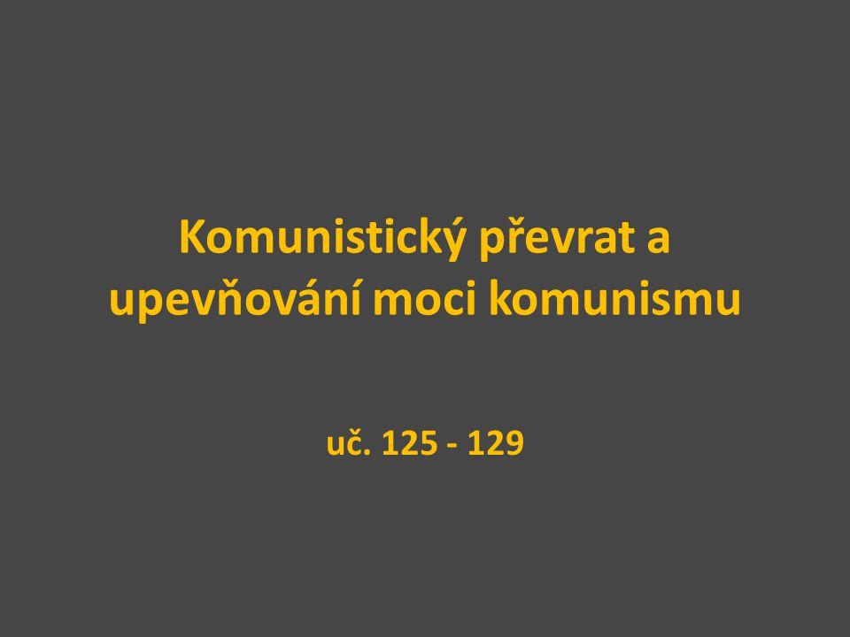 Komunistický převrat a upevňování moci komunismu uč. 125 - 129