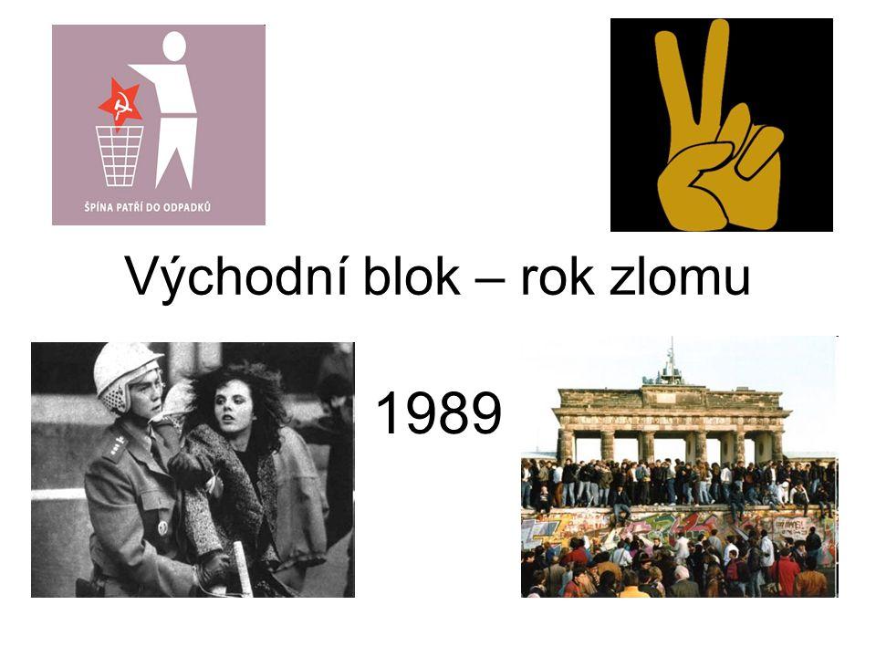 Východní blok – rok zlomu 1989