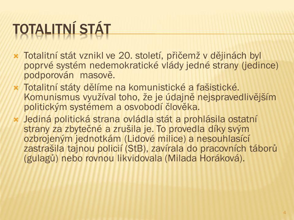  Totalitní stát vznikl ve 20.