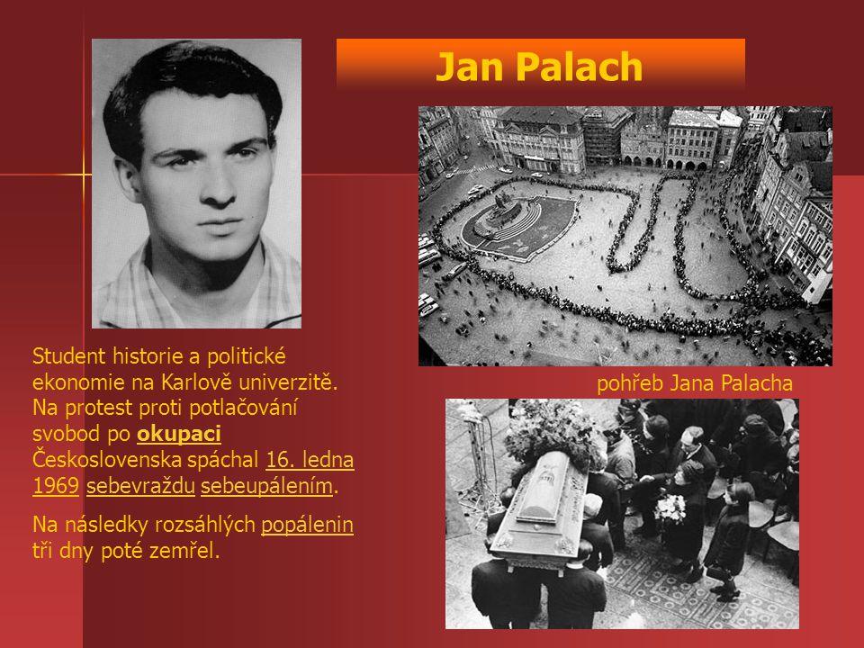 Student historie a politické ekonomie na Karlově univerzitě. Na protest proti potlačování svobod po okupaci Československa spáchal 16. ledna 1969 sebe