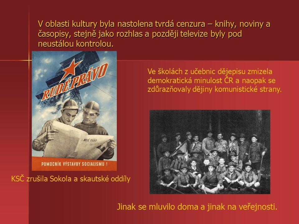 Po únoru 1948 docházelo k politickým procesům, ve kterých byli odsouzeni nevinní lidé.