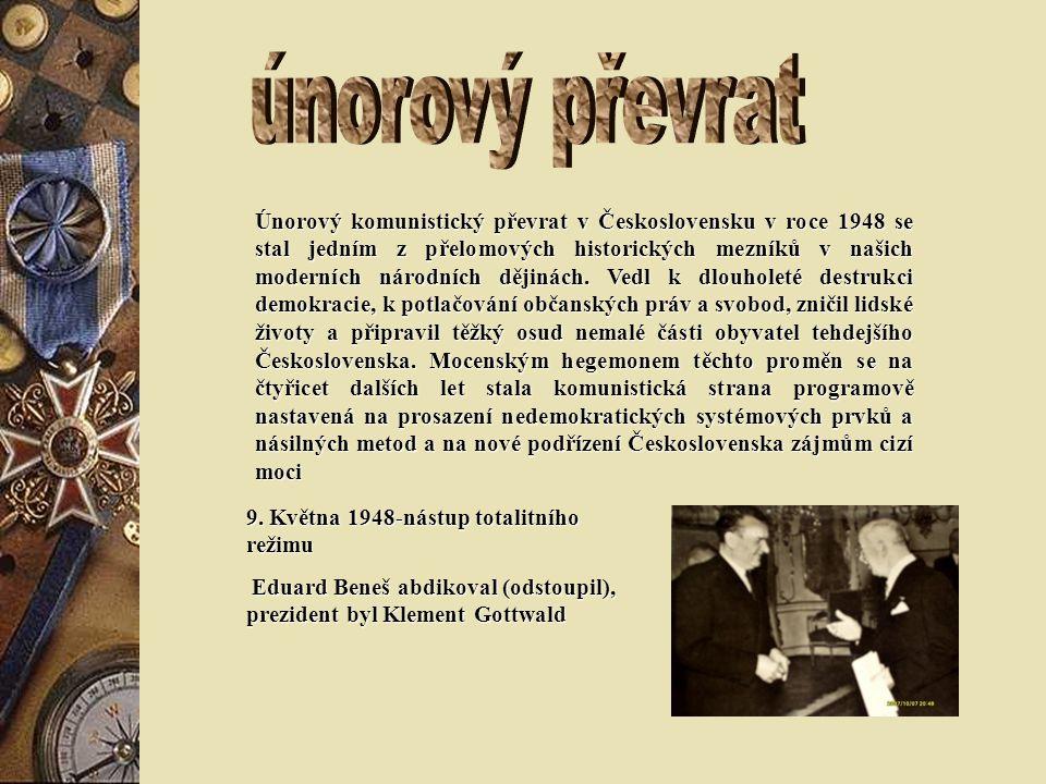 Únorový komunistický převrat v Československu v roce 1948 se stal jedním z přelomových historických mezníků v našich moderních národních dějinách.