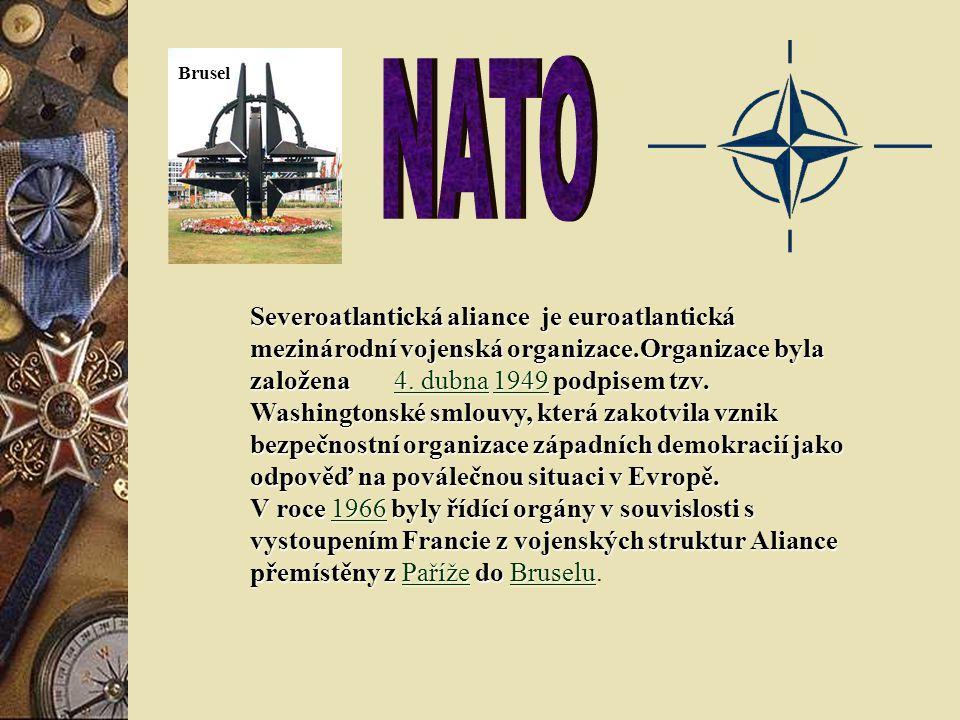 Severoatlantická aliance je euroatlantická mezinárodní vojenská organizace.Organizace byla založena 4.