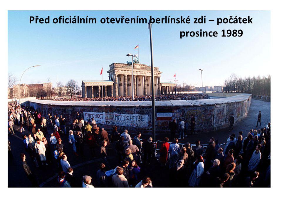 Před oficiálním otevřením berlínské zdi – počátek prosince 1989