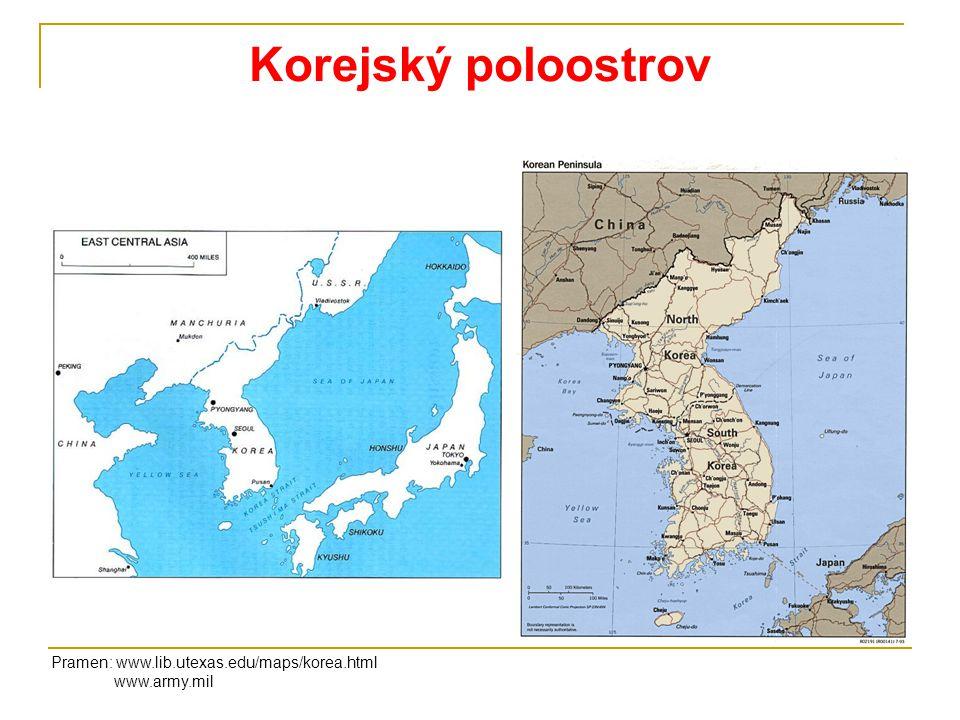 Vývoj konfliktu 1950-1953 Pramen: www.cnn.com/specials/cold.war InvazeProtiútok