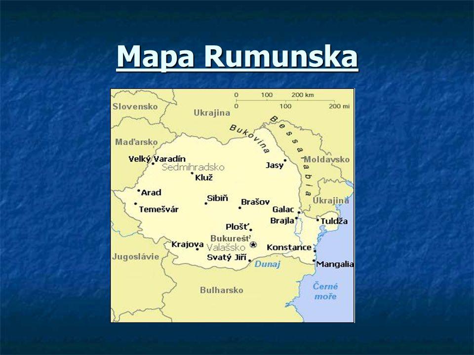 Obecné informace  Originální název: Romania  Český název: Rumunsko  Rozloha: 237 500 km2  Poloha: 20°-29° v.