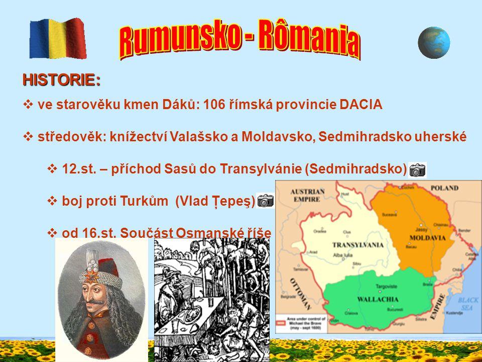 GEOGRAFICKÉ ÚDAJE:  na J Valašská nížina  na Z Uherská nížina  Dunaj: rozsáhlá delta  přítoky Mureş, Olt  podnebí mírné, subtropické (V)