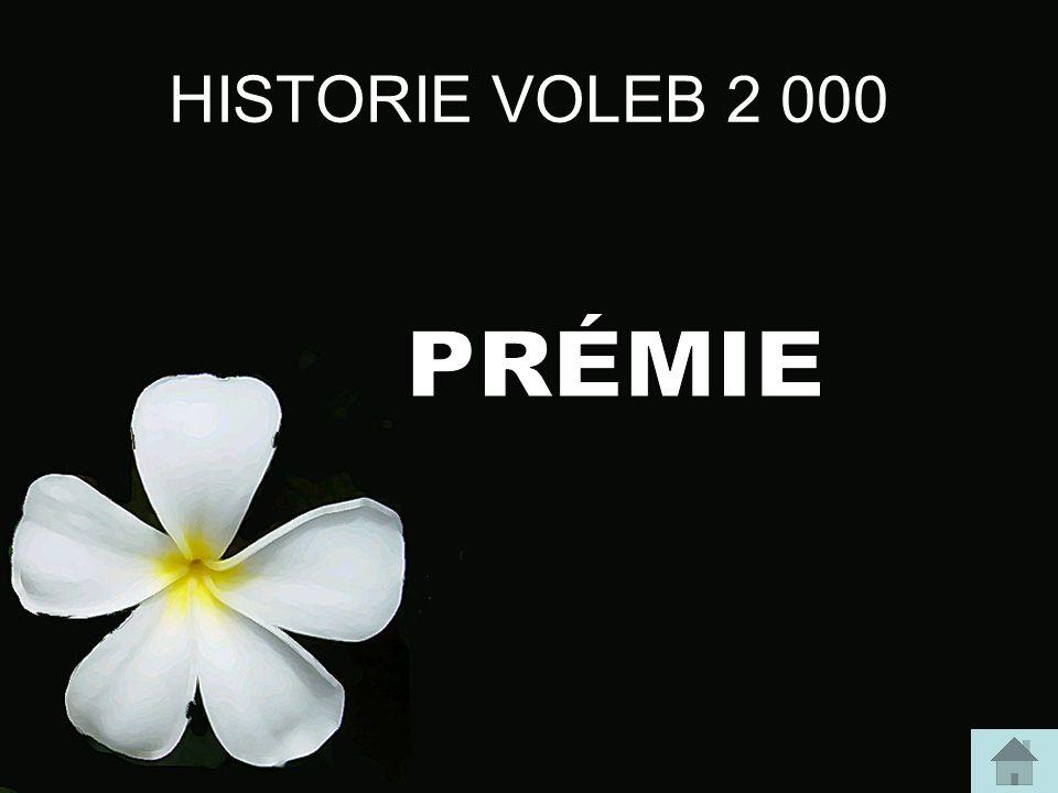HISTORIE VOLEB 3 000 Kdy a o čem bylo první referendum v samostatné ČR?