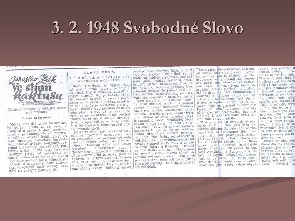3. 2. 1948 Svobodné Slovo
