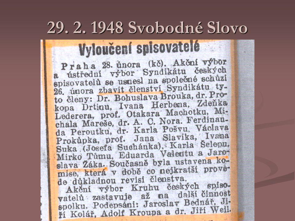 29. 2. 1948 Svobodné Slovo