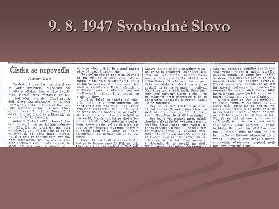 9. 8. 1947 Svobodné Slovo
