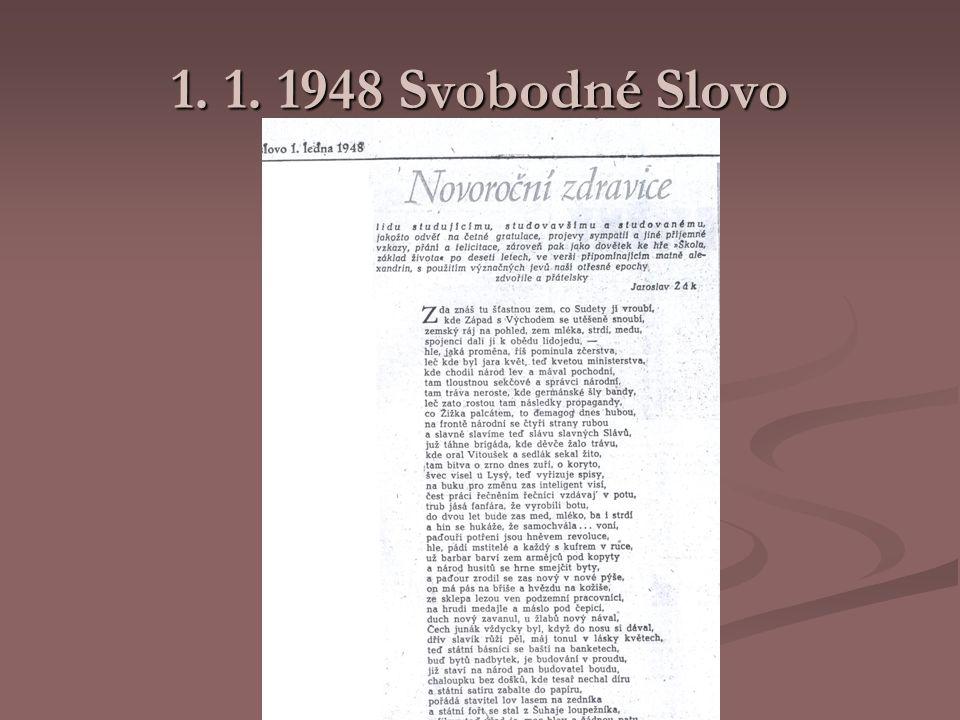 1. 1. 1948 Svobodné Slovo