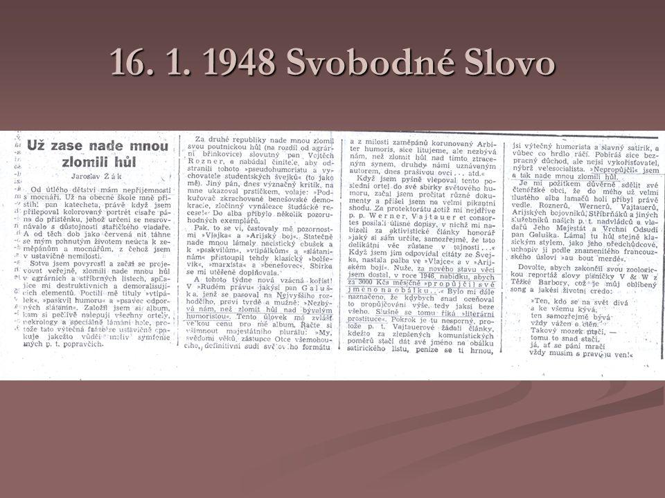 16. 1. 1948 Svobodné Slovo