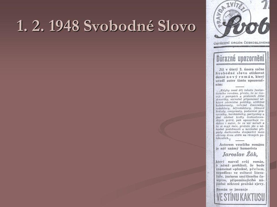 1. 2. 1948 Svobodné Slovo