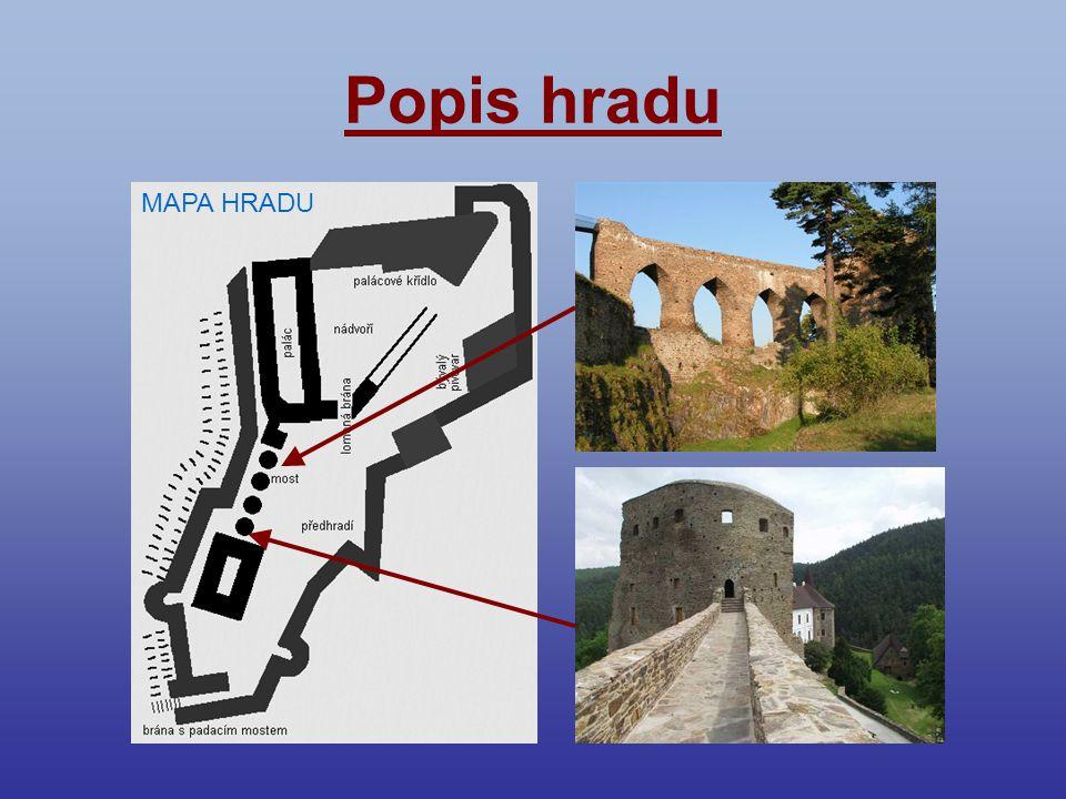 Popis hradu MAPA HRADU