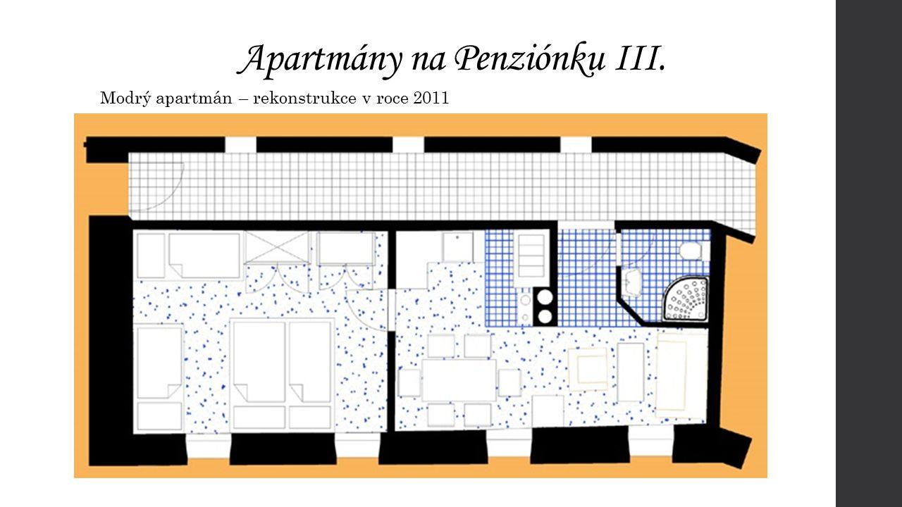 Apartmány na Penziónku III. Modrý apartmán – rekonstrukce v roce 2011