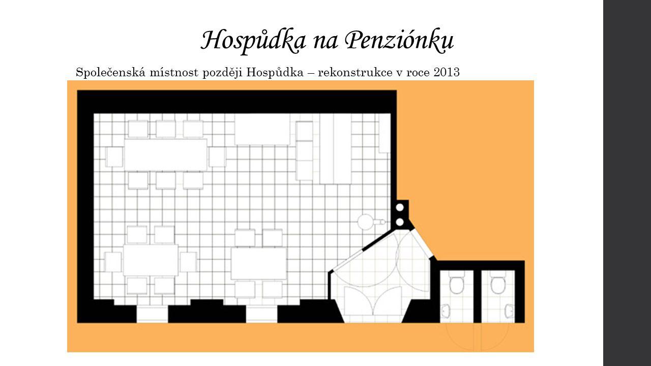 Hospůdka na Penziónku Společenská místnost později Hospůdka – rekonstrukce v roce 2013
