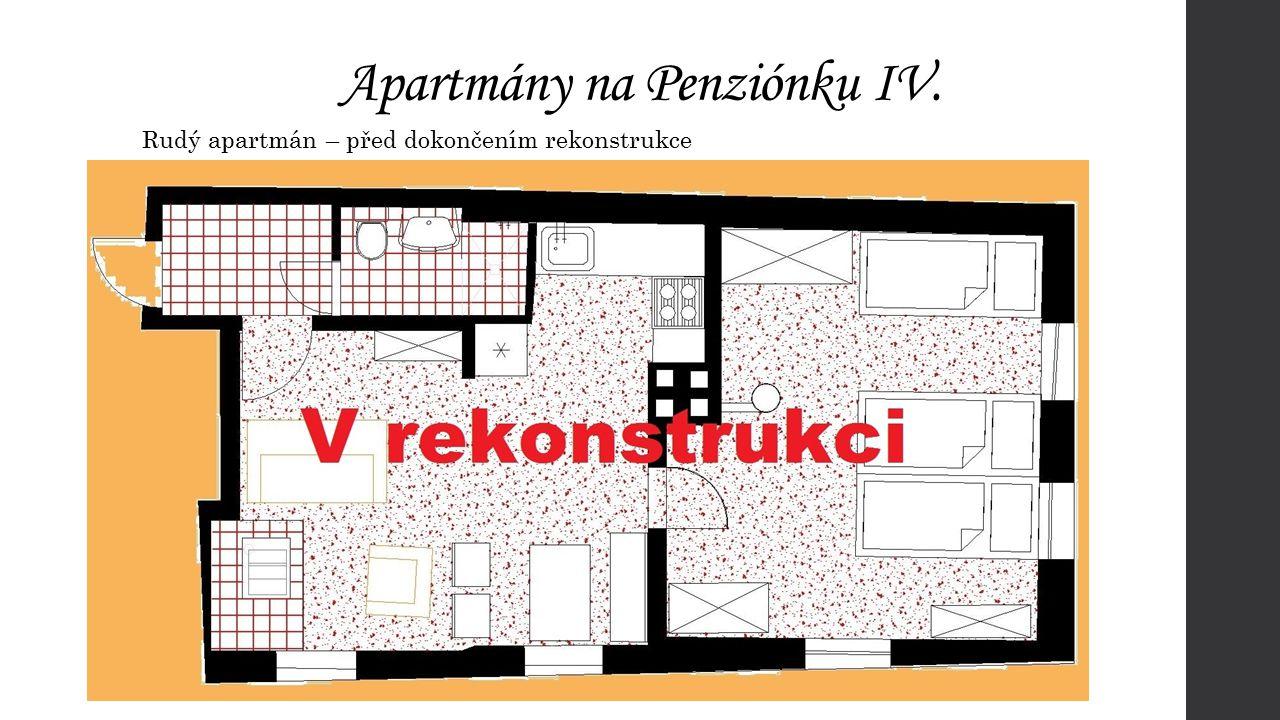 Apartmány na Penziónku IV. Rudý apartmán – před dokončením rekonstrukce