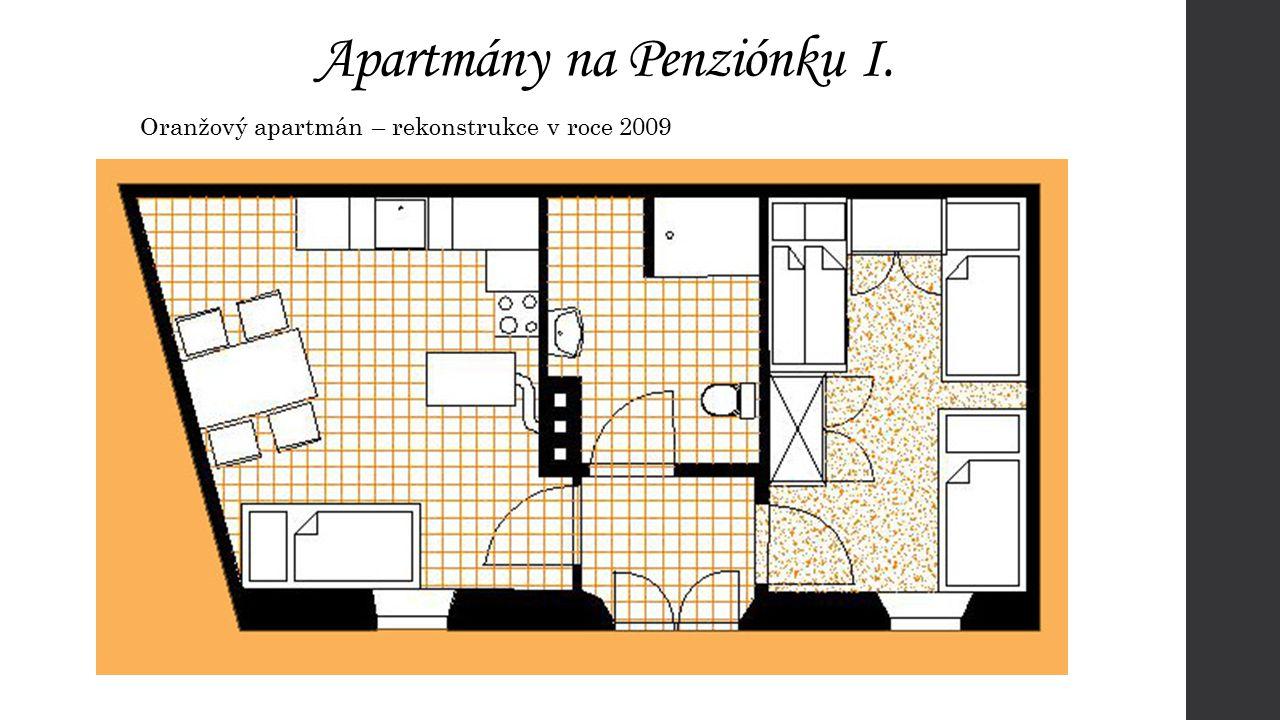 Apartmány na Penziónku II. Zelený apartmán – rekonstrukce v roce 2009