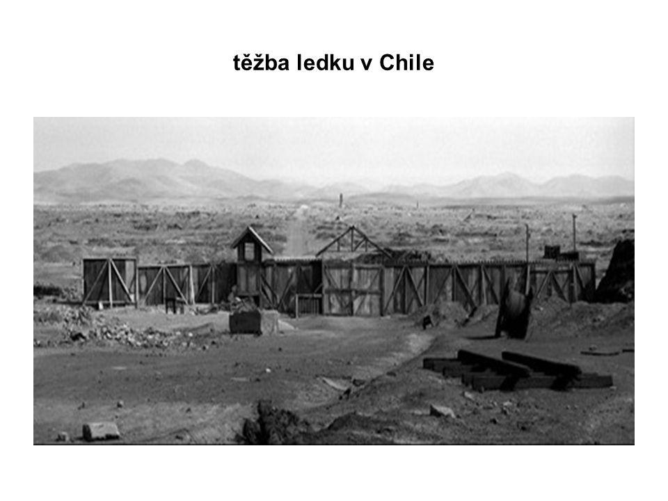 těžba ledku v Chile