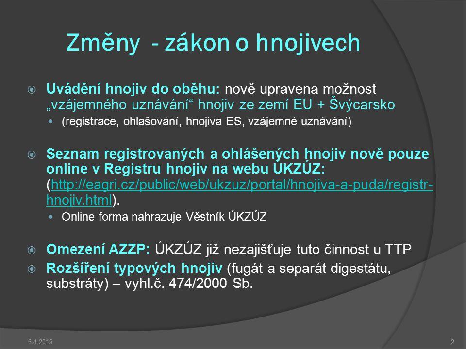 Změny – vyhláška 377/2013 Sb. Od 1. 1. 2014 zcela nahrazuje vyhl.