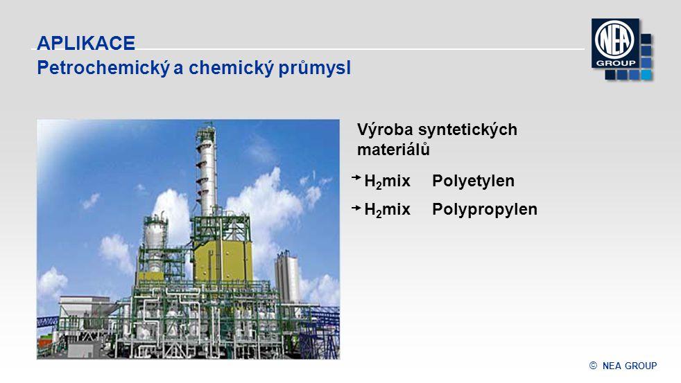 © NEA GROUP APLIKACE H 2 mix Polyetylen H 2 mix Polypropylen Výroba syntetických materiálů Petrochemický a chemický průmysl