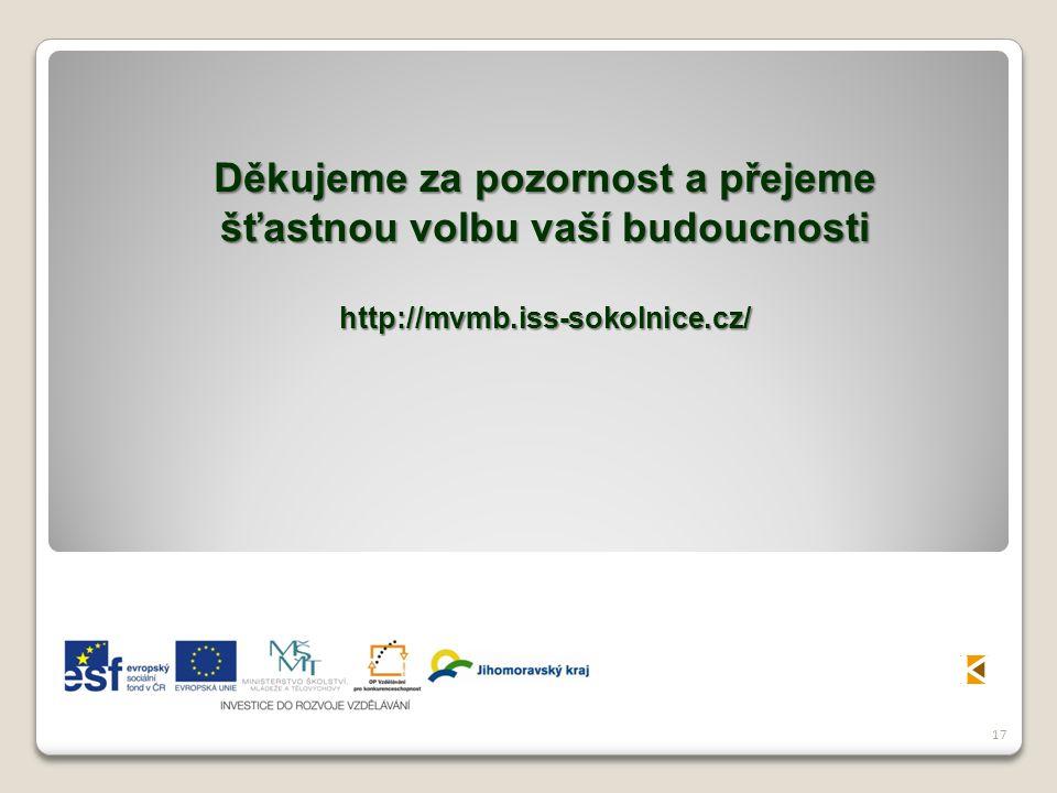 17 Děkujeme za pozornost a přejeme šťastnou volbu vaší budoucnosti http://mvmb.iss-sokolnice.cz/