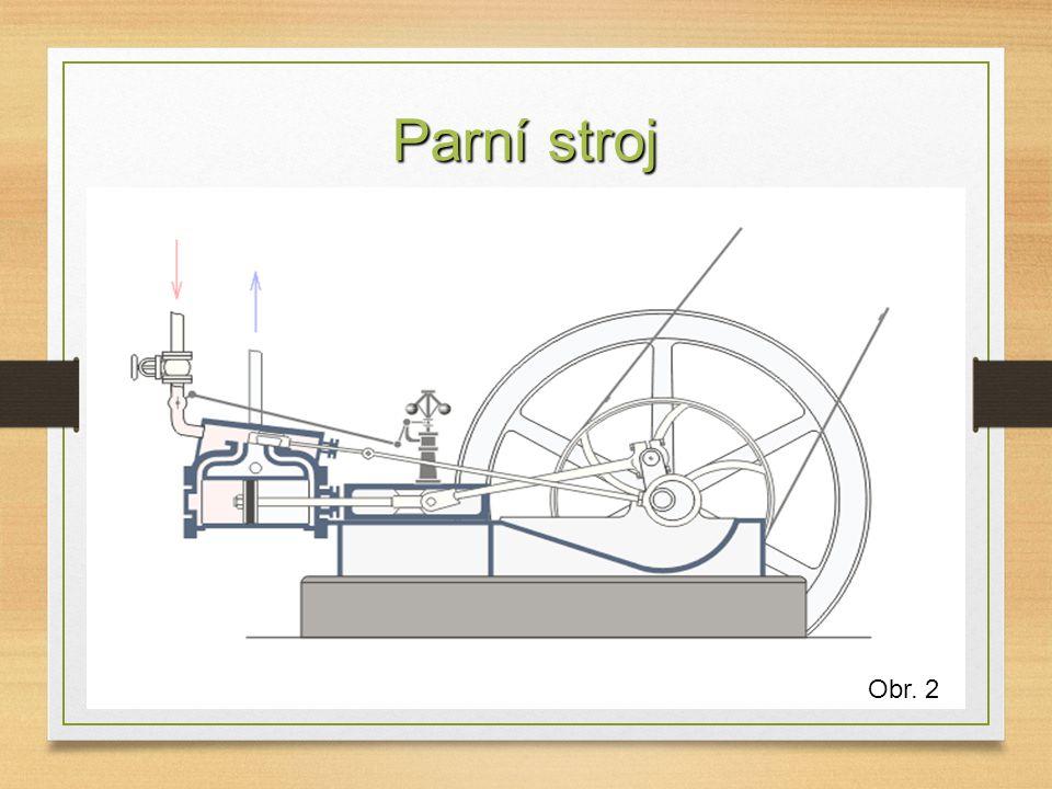 Parní stroj Obr. 2