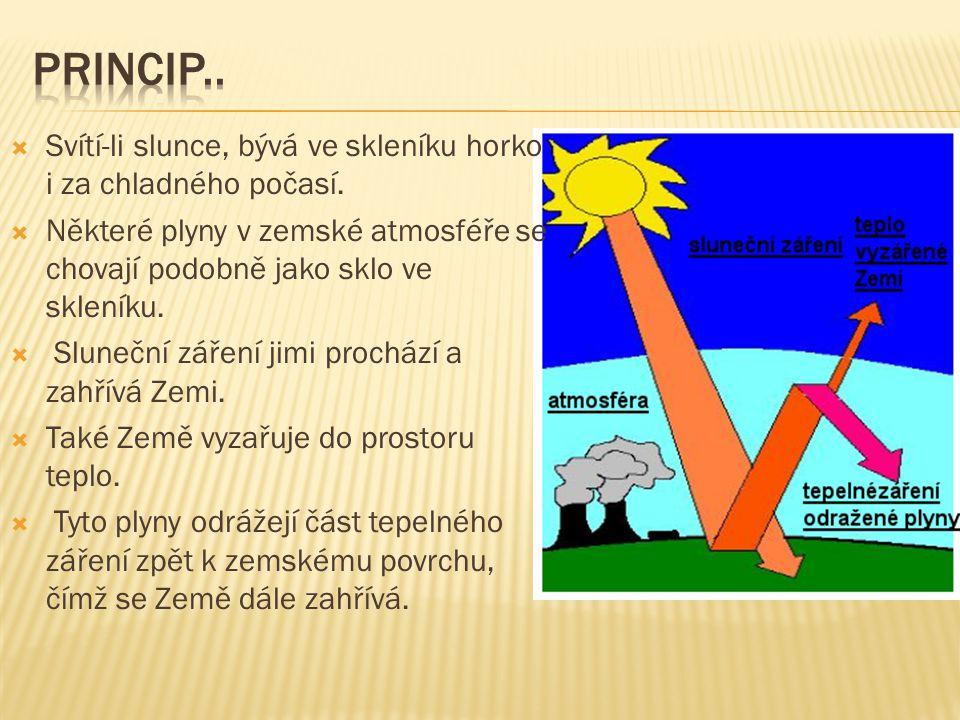  Svítí-li slunce, bývá ve skleníku horko i za chladného počasí.