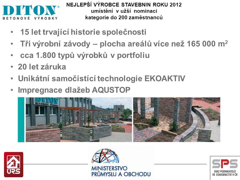 Slavnostní vyhlášení výsledků soutěže NEJLEPŠÍ VÝROBCE STAVEBNIN ROKU 2012 cena časopisu Stavebnictví