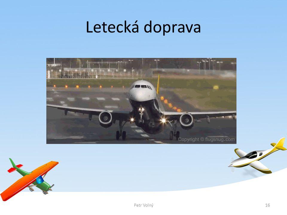 Letecká doprava 16Petr Volný
