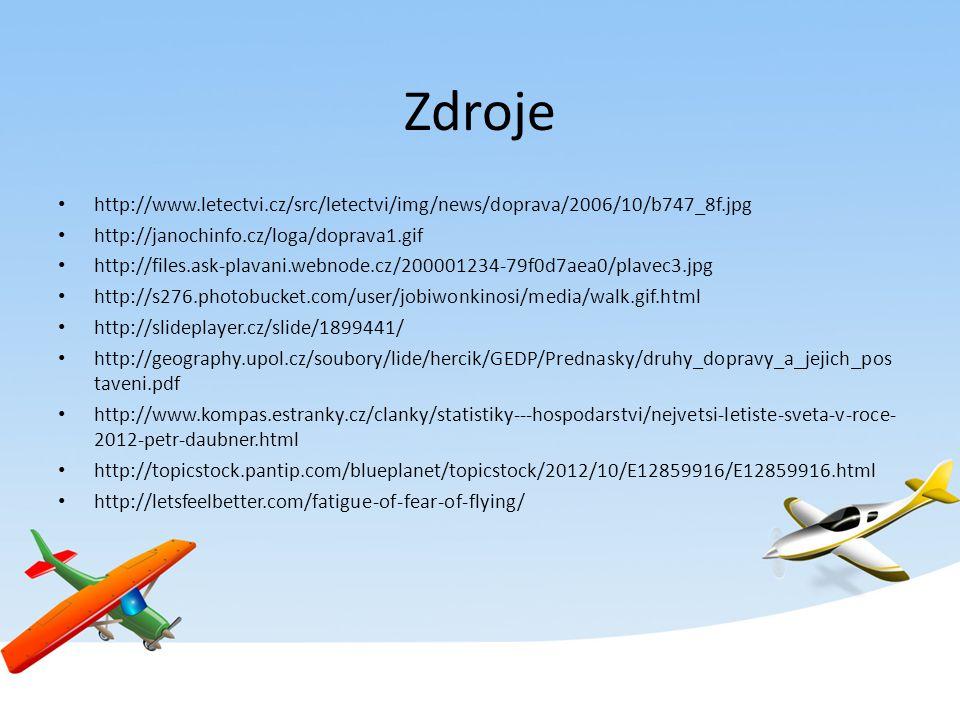 Zdroje http://www.letectvi.cz/src/letectvi/img/news/doprava/2006/10/b747_8f.jpg http://janochinfo.cz/loga/doprava1.gif http://files.ask-plavani.webnod