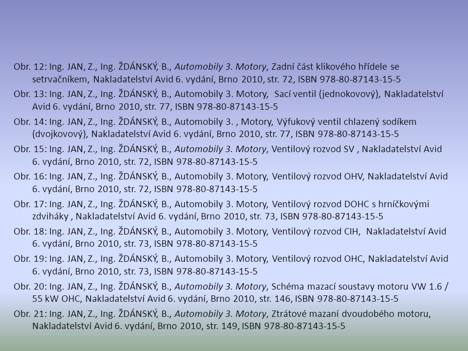 Obr.12: Ing. JAN, Z., Ing. ŽDÁNSKÝ, B., Automobily 3.