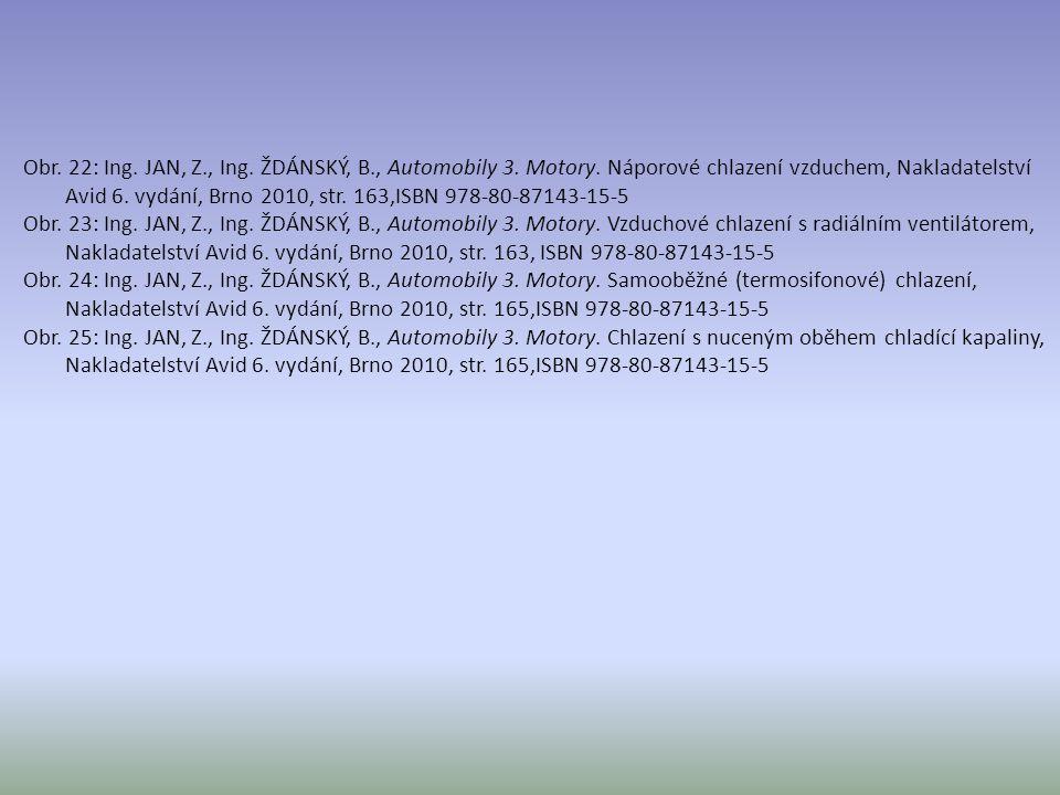 Obr. 22: Ing. JAN, Z., Ing. ŽDÁNSKÝ, B., Automobily 3. Motory. Náporové chlazení vzduchem, Nakladatelství Avid 6. vydání, Brno 2010, str. 163,ISBN 978