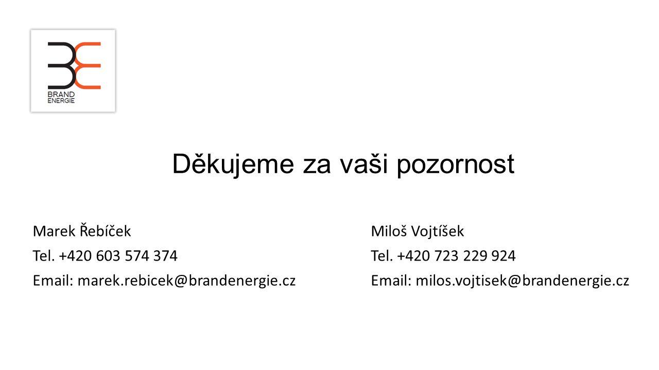 Děkujeme za vaši pozornost Marek Řebíček Tel. +420 603 574 374 Email: marek.rebicek@brandenergie.cz Miloš Vojtíšek Tel. +420 723 229 924 Email: milos.