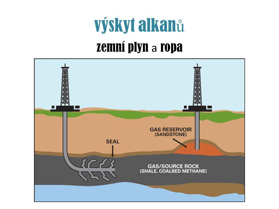 výskyt alkan ů zemní plyn a ropa