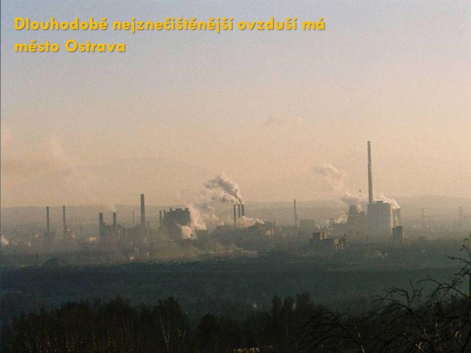Dlouhodobě nejznečištěnější ovzduší má město Ostrava