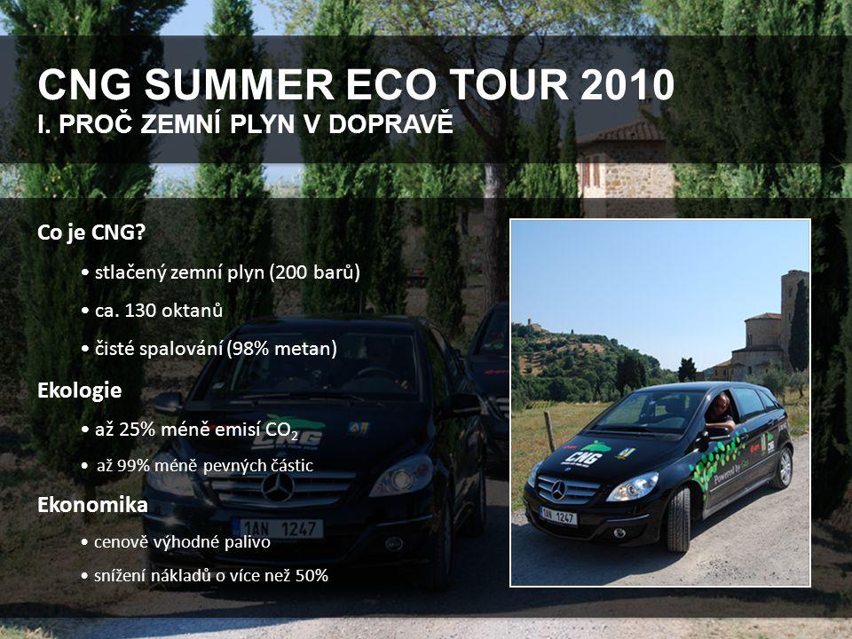 CNG SUMMER ECO TOUR 2010 I. PROČ ZEMNÍ PLYN V DOPRAVĚ Co je CNG.
