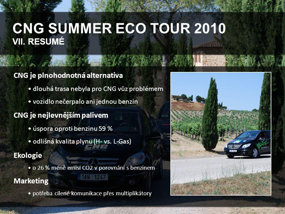 CNG SUMMER ECO TOUR 2010 VIII.PARTNEŘI PROJEKTU Mercedes-Benz Česká republika s.r.o.