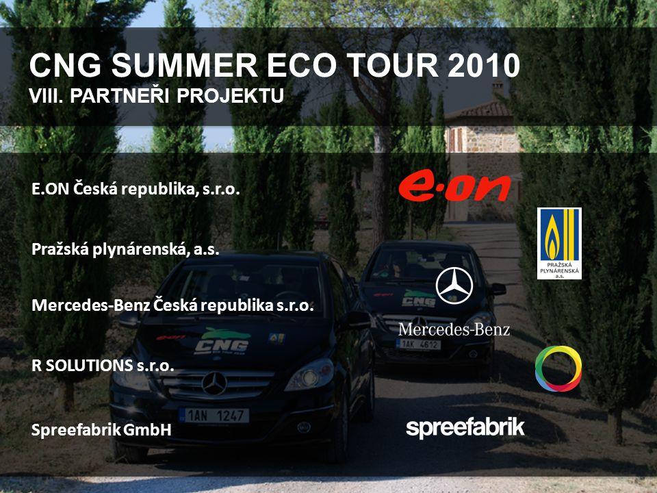 CNG SUMMER ECO TOUR 2010 VIII. PARTNEŘI PROJEKTU Mercedes-Benz Česká republika s.r.o.