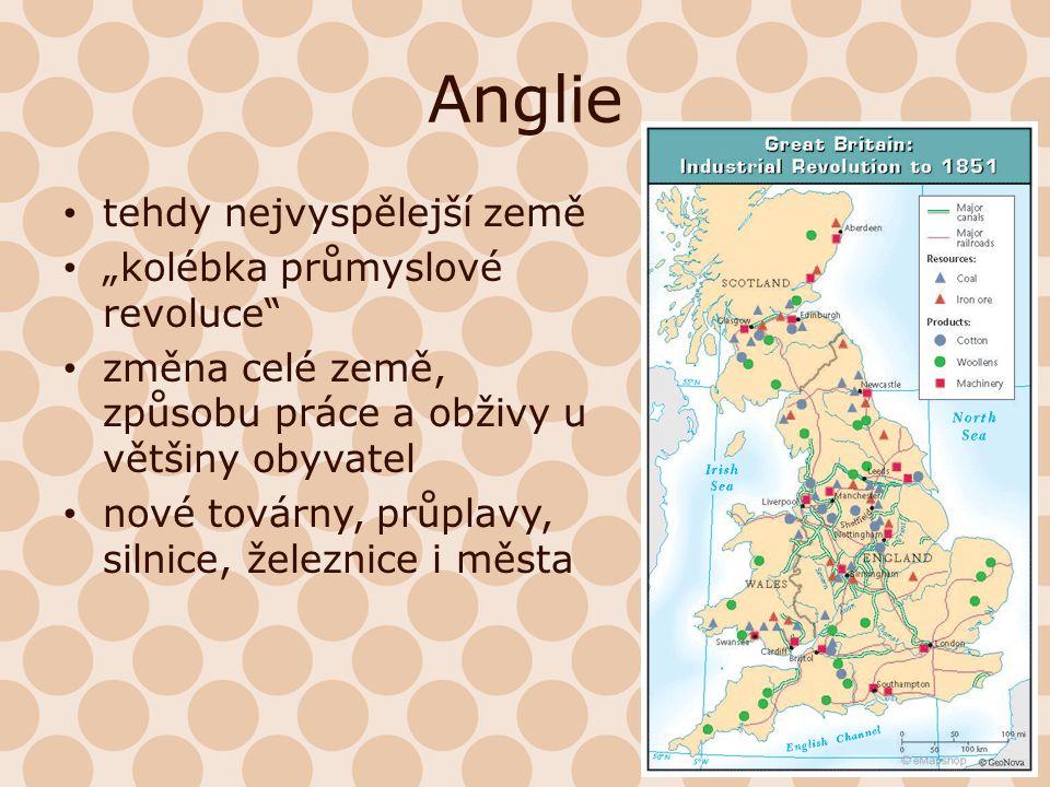 Období Konec 18.a počátek 19. století (Anglie) V průběhu 19.