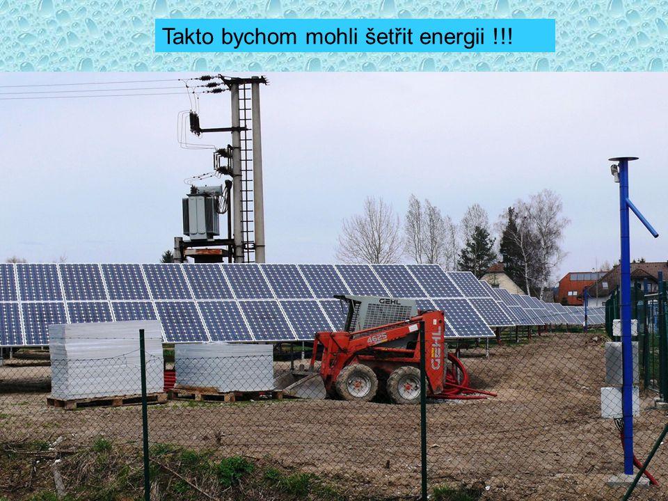 Takto bychom mohli šetřit energii !!!