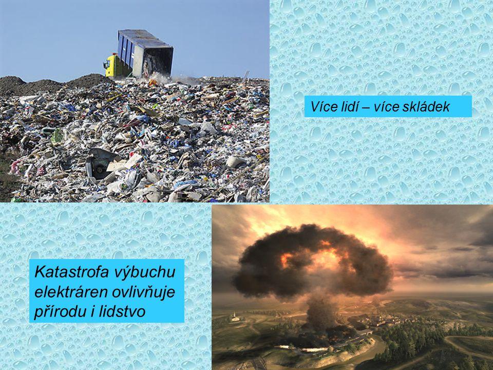 Katastrofa výbuchu elektráren ovlivňuje přírodu i lidstvo Více lidí – více skládek