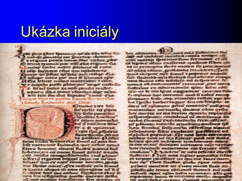 Raný středověk Ukázka iniciály