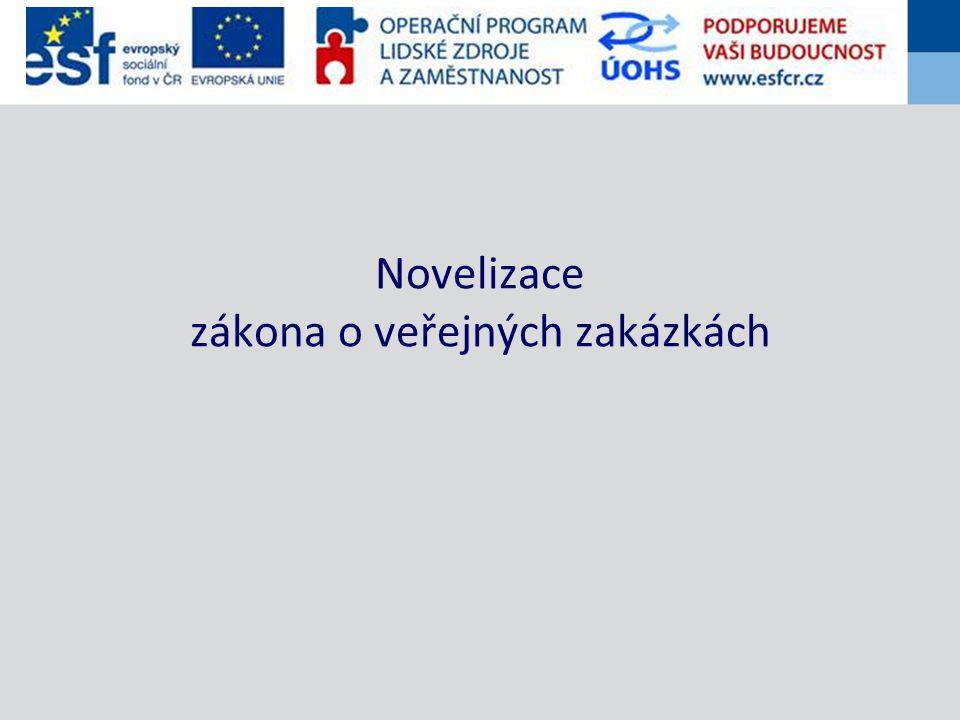 Novelizace zákona o veřejných zakázkách