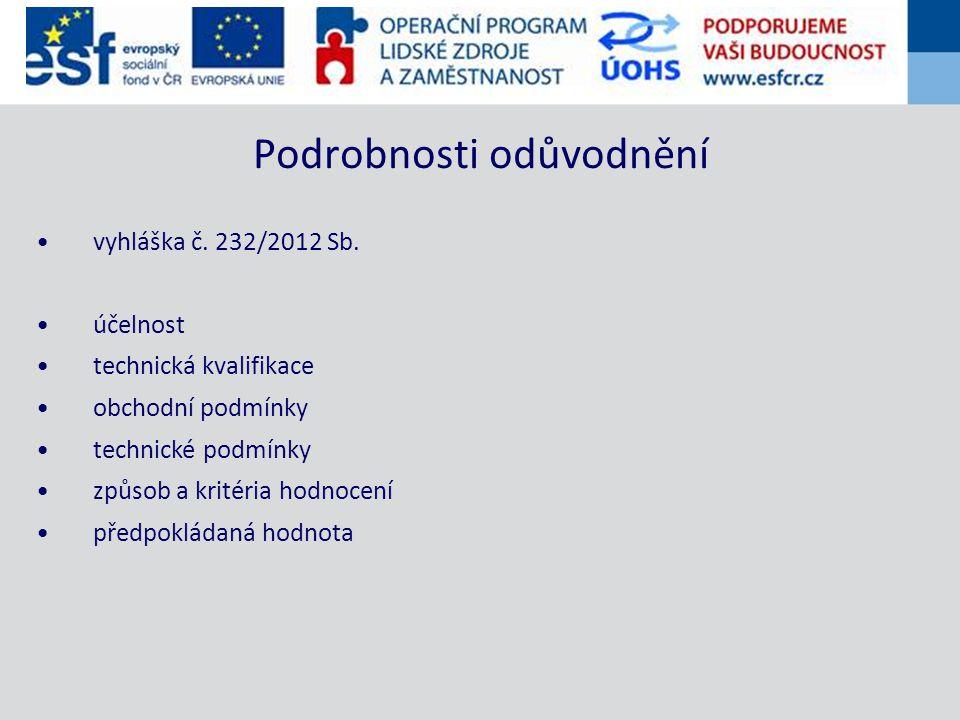 vyhláška č.232/2012 Sb.