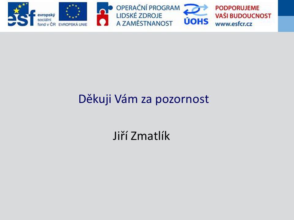 Děkuji Vám za pozornost Jiří Zmatlík