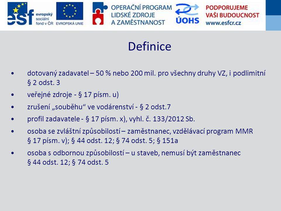 """""""Věstník veřejných zakázek - § 17 písm. g) profil zadavatele u ZPŘ Uveřejňování"""