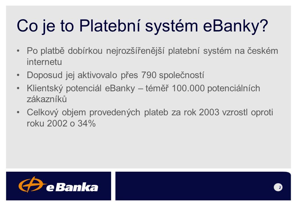 Platební systém eBanky