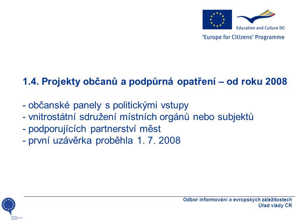 Odbor informování o evropských záležitostech Úřad vlády ČR 1.4.